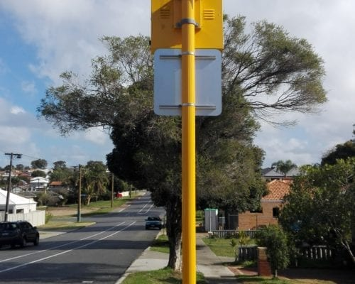 Frangible Pole - school zone project Victoria