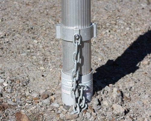 Aluminium Frangible Pole on Restraint Device